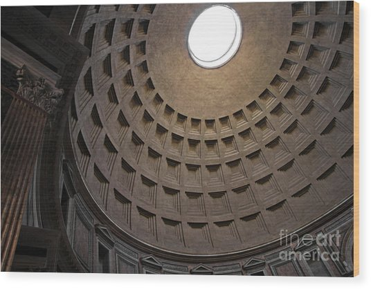 The Ceiling Of The Pantheon Wood Print by Chris Hill