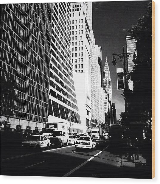 The Chrysler Building In New York City Wood Print