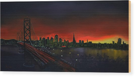 The City By The Bay Wood Print by Jamil Alkhoury