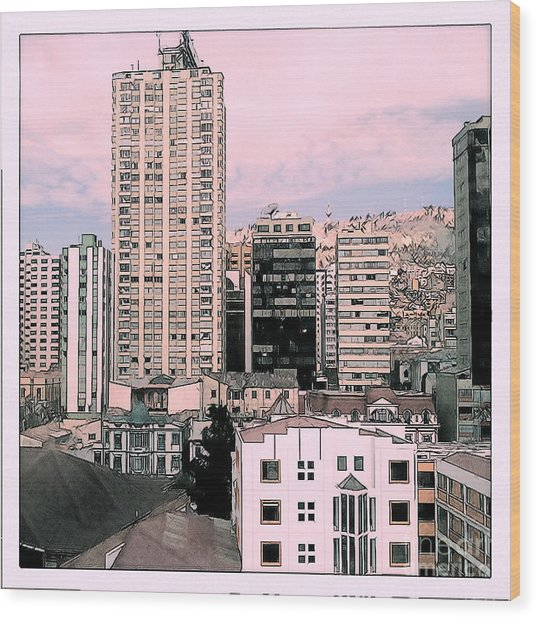 The City Of La Paz Wood Print