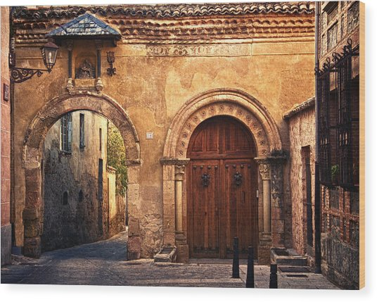 The Claustra Gate In Segovia Wood Print