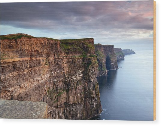 The Cliffs Of Moher Wood Print by Brendan O Neill