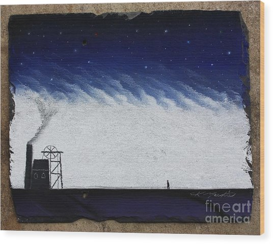 The Coal Miner Wood Print