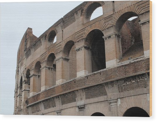 The Coliseum Wood Print by