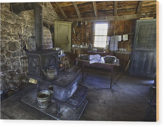 The Country Kitchen Wood Print