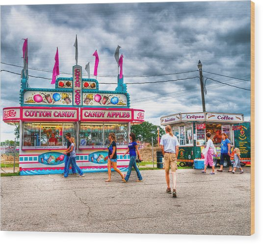 The County Fair Wood Print