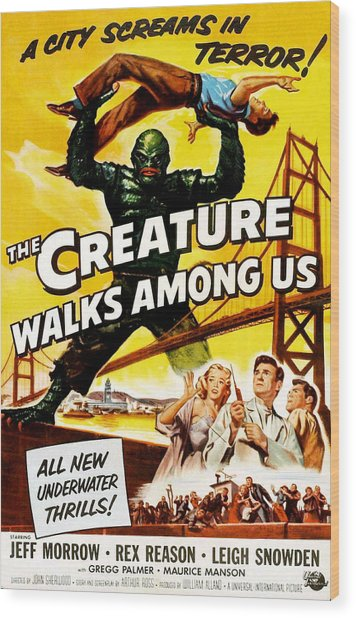 The Creature Walks Among Us, Don Wood Print by Everett