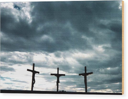 The Crosses At Groom Wood Print by Ed Golden