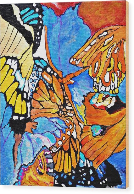 The Dance Of The Butterflies Wood Print