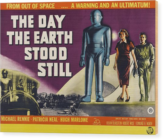 The Day The Earth Stood Still, Lock Wood Print by Everett