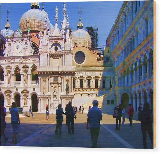 The Doge's Palace Venice Wood Print