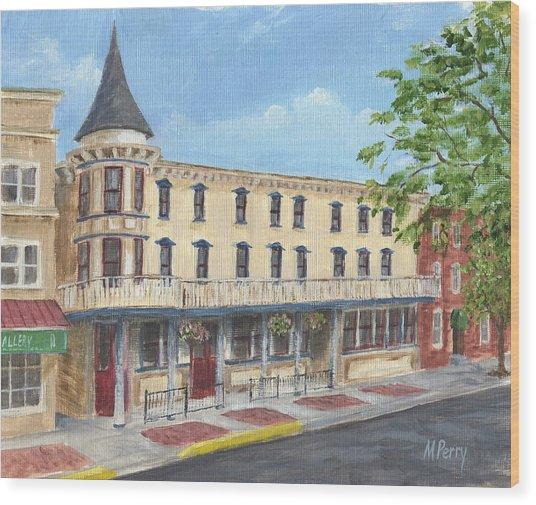 The Doylestown Inn Wood Print
