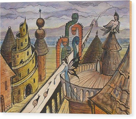 The Dragon Bridge Wood Print