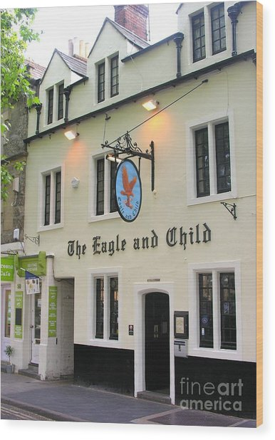 The Eagle And Child Wood Print