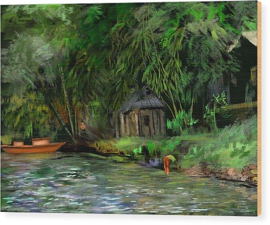 The Eco Village Wood Print