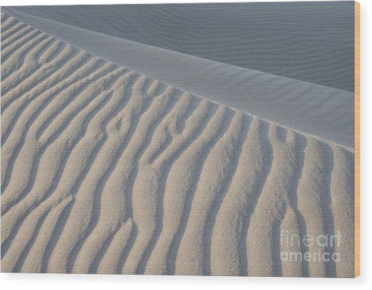 The Edge Of Sand Wood Print by Ronald Hoggard