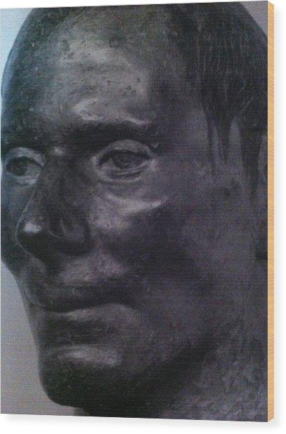 The Face Wood Print by Paul Washington