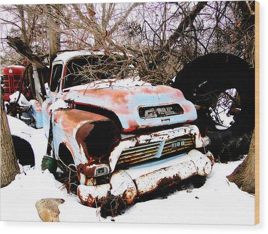 The Fixer Upper Old Gmc Farm Truck Wood Print