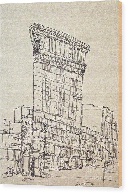 The Flatiron Wood Print
