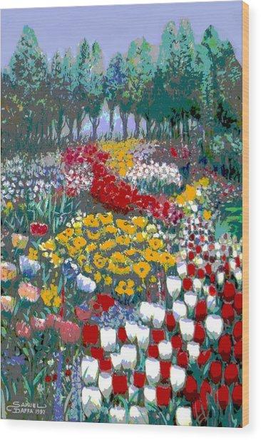 The Flower Garden. Wood Print