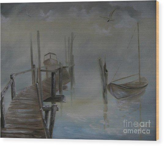 The Fog Wood Print