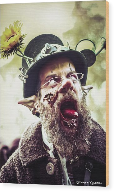 Wood Print featuring the photograph The Fool Goblin by Stwayne Keubrick