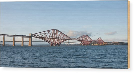 The Forth Bridges Wood Print