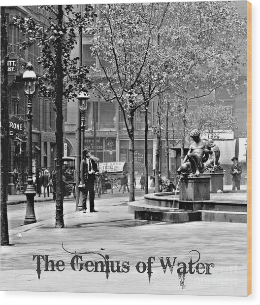 The Genius Of Water 1906 Wood Print by Padre Art