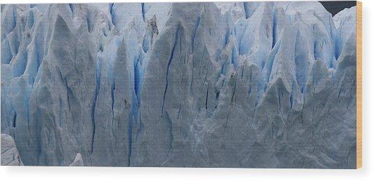 The Glacier Up Close Wood Print