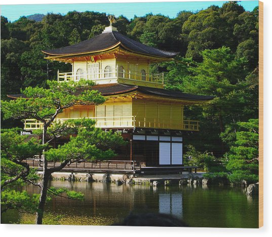 The Golden Temple In Kyoto Wood Print