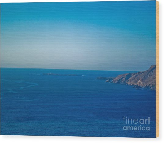 The Great Atlantic At Slieve League Wood Print by Black Sun Forge