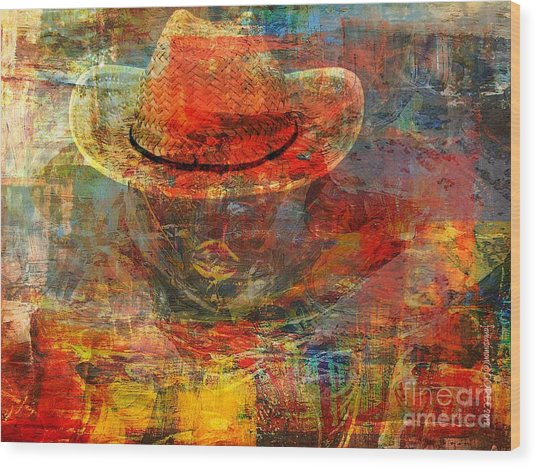 The Greatest Hope Is Not The Hat Wood Print by Fania Simon
