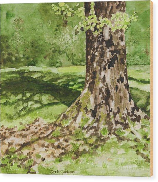 The Green Grass Grew All Around Wood Print by Carla Dabney
