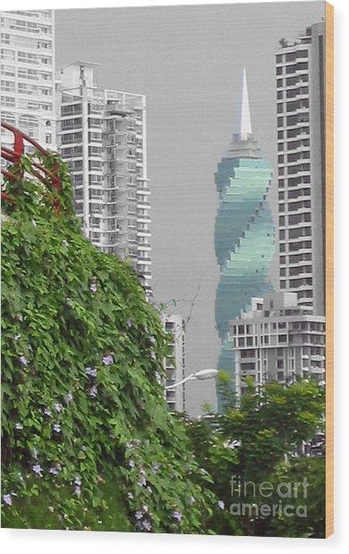 The Green Season In Panama Wood Print