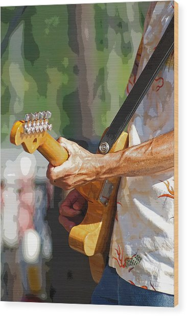 The Guitar Player Wood Print by Margie Avellino