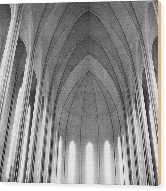 The Halls Of Valhalla Wood Print