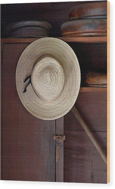 The Hat Shop Wood Print