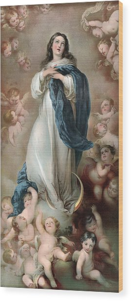 The Immaculate Conception, Depicting Wood Print by Everett