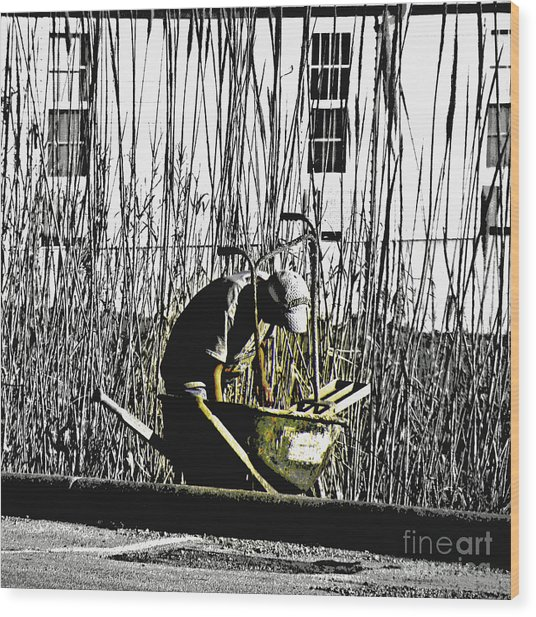 The Joy Of Working Wood Print by Joe Jake Pratt