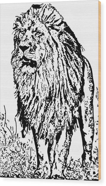 The King Wood Print by Lori Jackson
