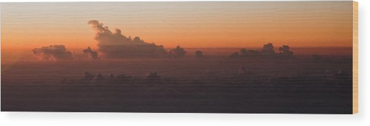 The Last Light Wood Print by Michael Braxenthaler