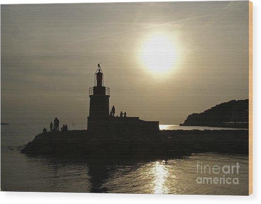 The Lighthouse - Sanary-sur-mer Wood Print by Rod Jones