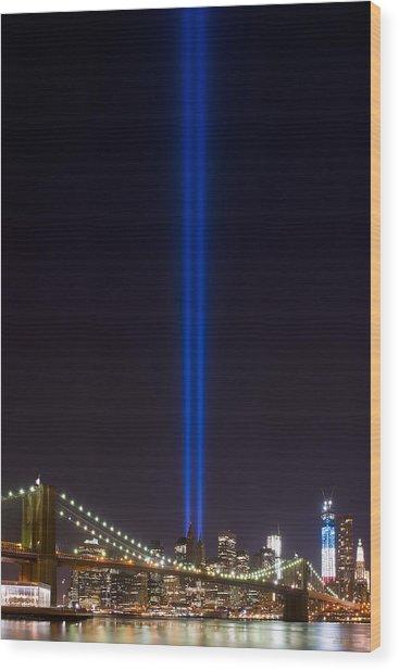 The Lights - 9-11 Tribute Wood Print
