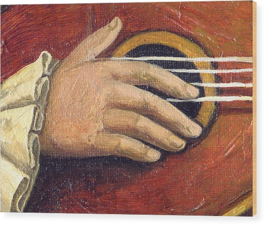 The Little Mozart.detail I. Wood Print by Victoria Francisco