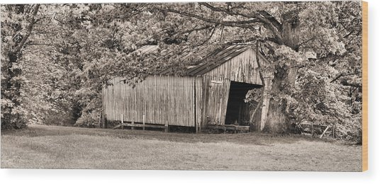 The Long Barn Wood Print by JC Findley