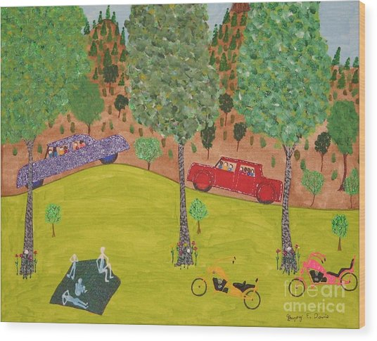 The Long Vacation Wood Print by Gregory Davis