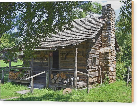 The Mark Twain Family Cabin Wood Print