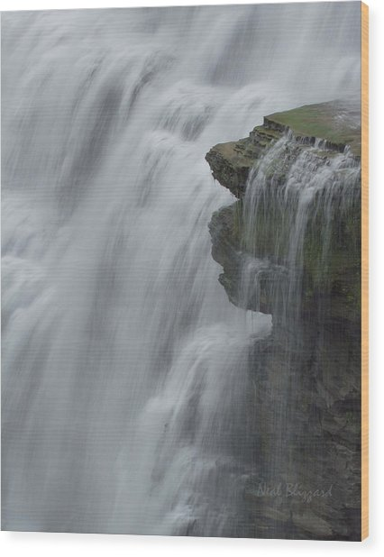 The Middle Falls I Wood Print by Neal Blizzard