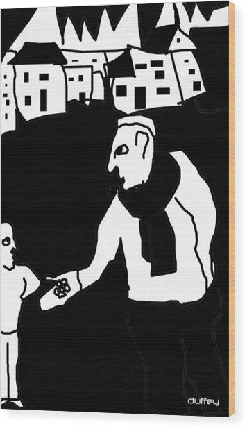 The Molester Wood Print