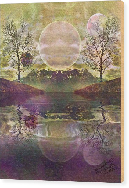 The Mystery Of Dawn Wood Print